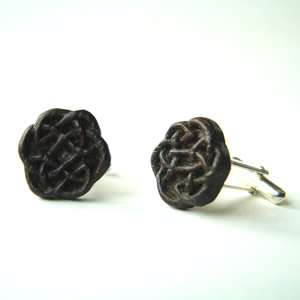 Celtic Bog Oak Cufflinks