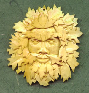 Green Man Pendant, Large