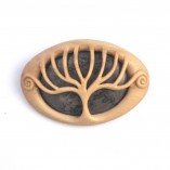 Holly stromatolite tree brooch