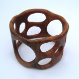 "Deep ""Organico"" bangle in walnut."