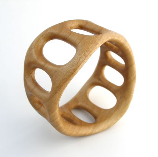 """Pillars"" bangle in sycamore."