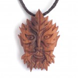 wood sprite necklace in apple