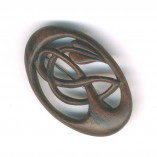 vine brooch walnut