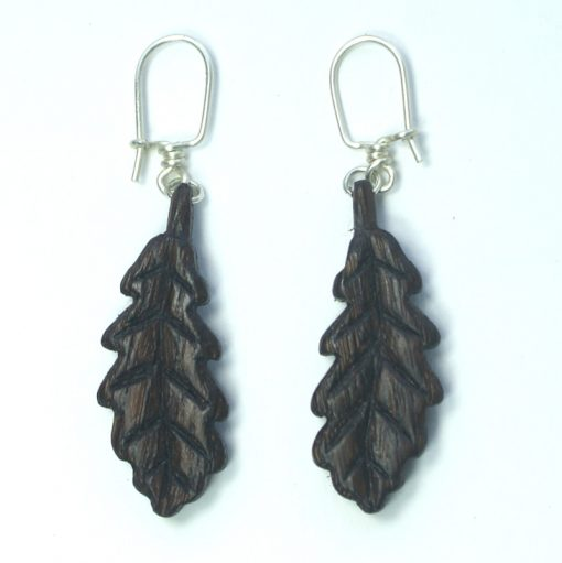 oak-leaf-earrings-in-bog-oak-on-hooks