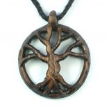 tree of life necklace walnut