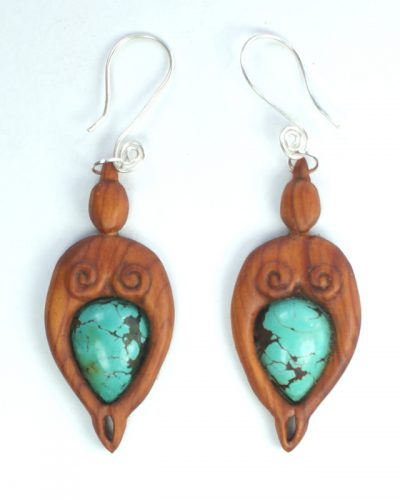 mother nurture earrings yew turquoise