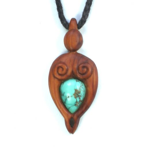 mother nurture necklace yew turquoise