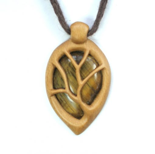 tree necklace holly tiger's eye