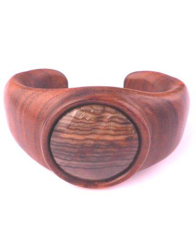 Cuff Bracelet in Walnut & Fossil Wood