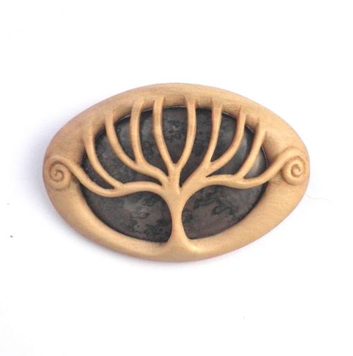 Holly stromatolite tree brooch
