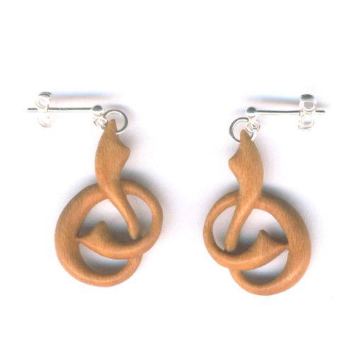 Slipknot earrings in holly