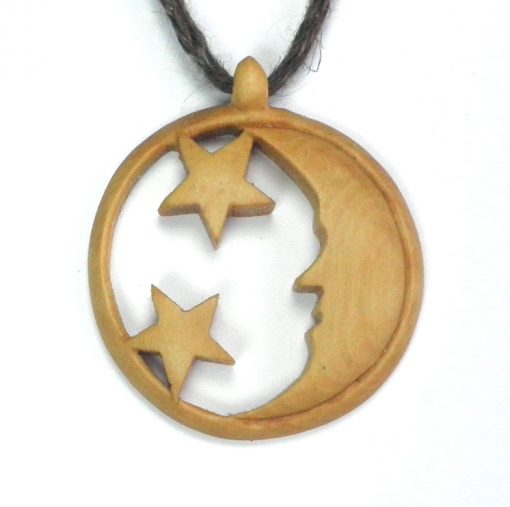 moon necklace in box
