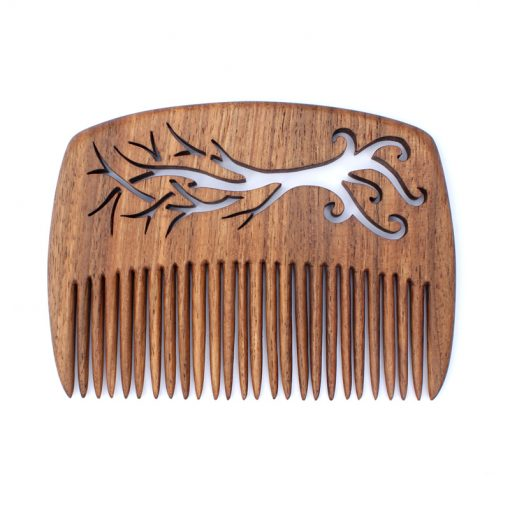Elvish tree comb in walnut