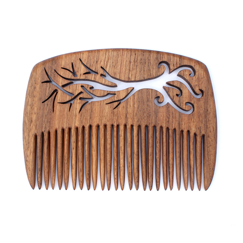 Elvish tree comb in walnut