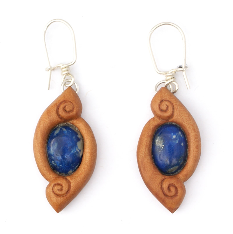 Spiraloop earrings hawthorn lapis