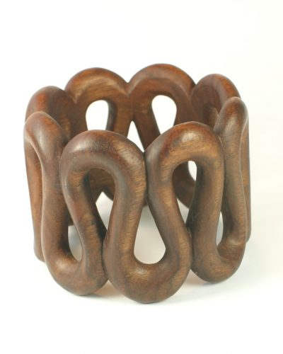 serpentine bangle walnut