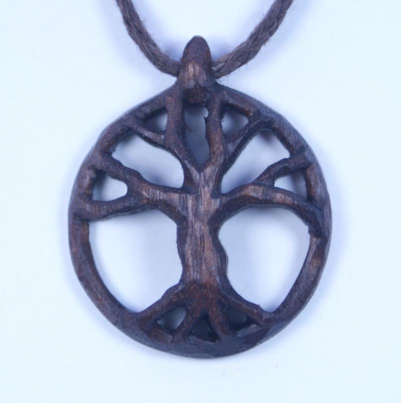 tree of life necklace bog oak