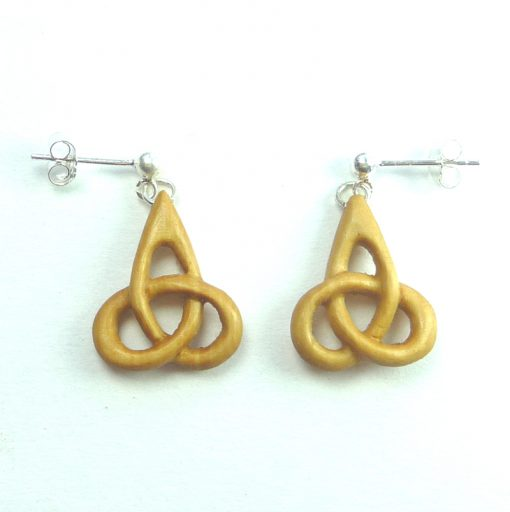 small triskele earrings in box