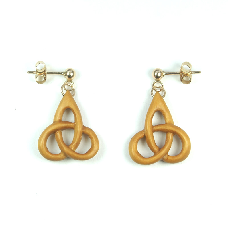 triskel earrings box + gold