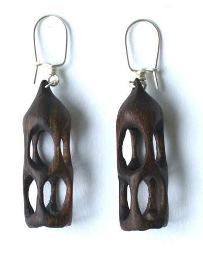 organico earrings walnut
