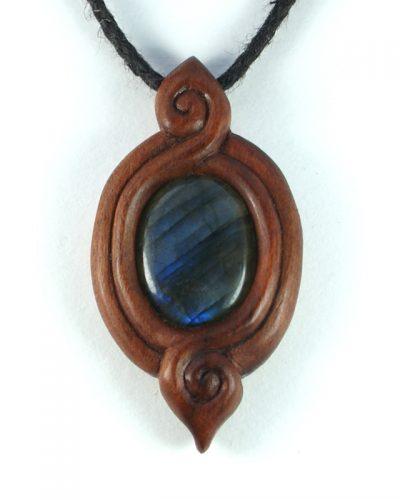 Spiraloop necklace damson & labradorite