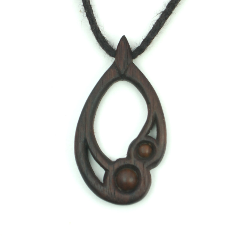 small drop necklace walnut