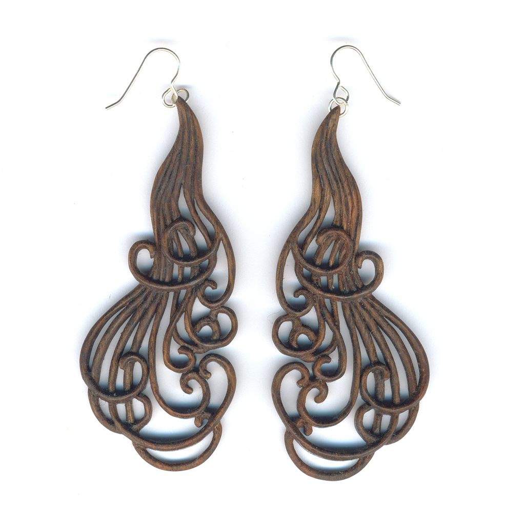 Curling Locks earrings