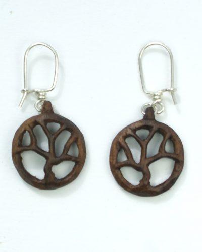 tree of life earrings walnut