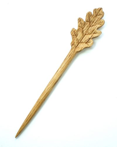 oak leaf hair pin oak