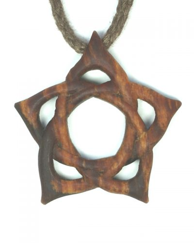 small pentacle necklace in box