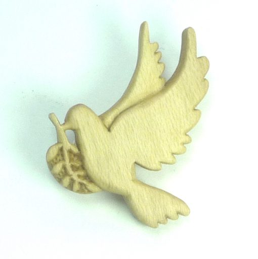 Dove brooch in holly