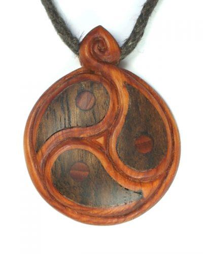 Yin yang trio yew + walnut