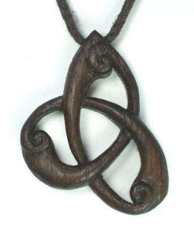 triskele pendant bog oak