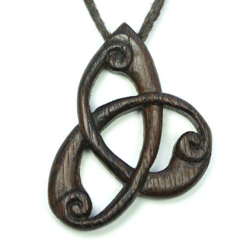 Triskele necklace bog oak