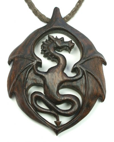 dragon pendant walnut