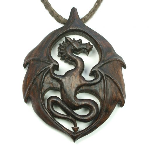 dragon pendant walnut