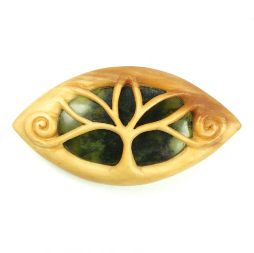 elven brooch boxwood and opalite