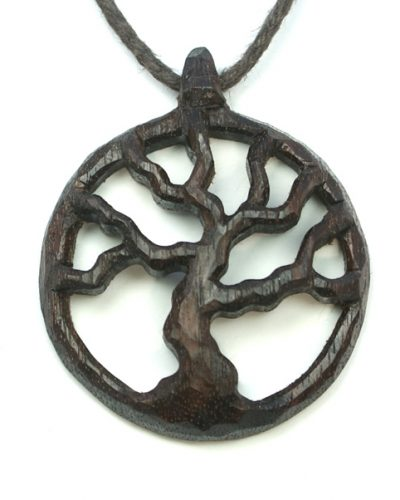 medium tree necklace walnut