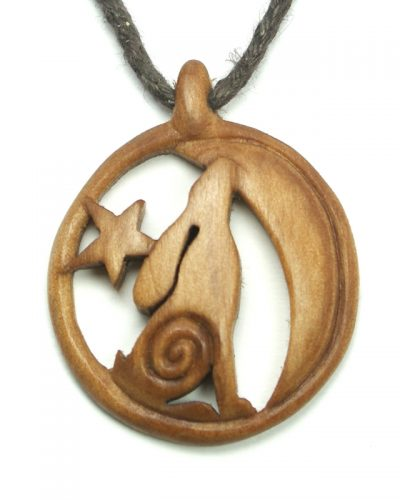 moon gazing hare necklace rowan