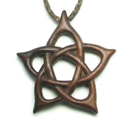 pentacle pendant walnut