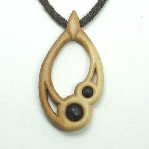 small drop necklace holly bog oak