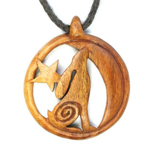 hare necklace in almond