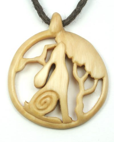 hare tree bird necklace hazel
