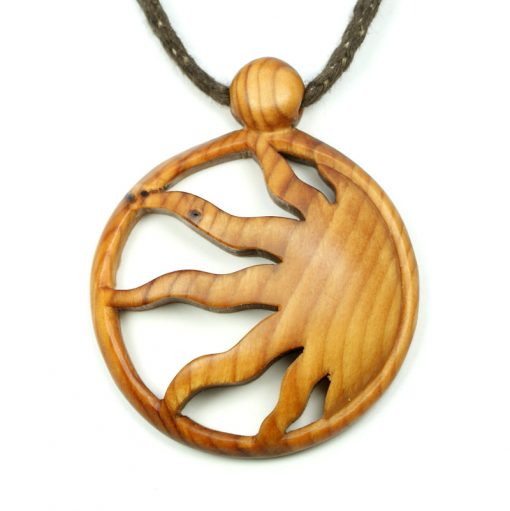 sun pendant in yew
