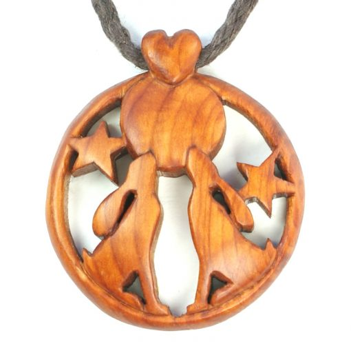 hare pair pendant yew