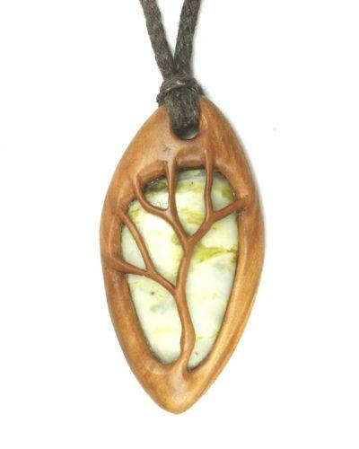 tree necklace rowan marble 2