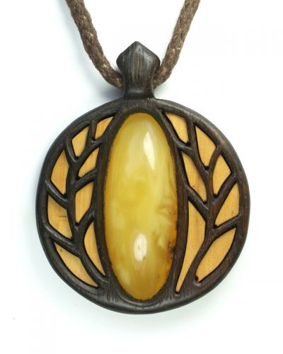 Golden trees pendant amber bog oak