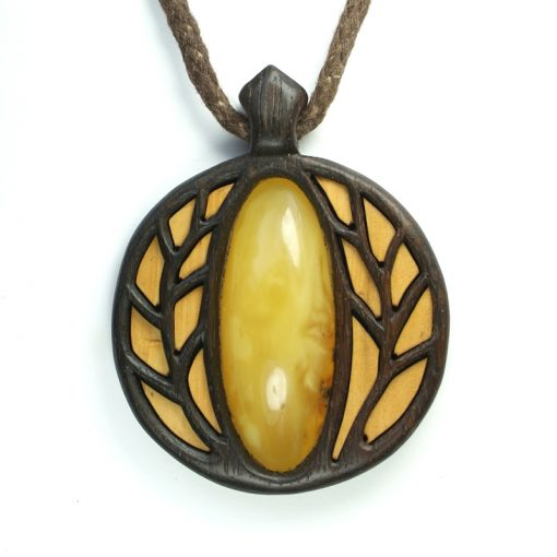 Golden trees pendant amber bog oak