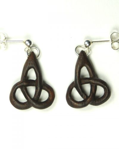 triskel earrings walnut