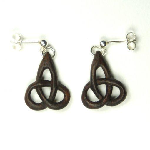 triskel earrings walnut